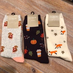 3 JCrew trouser socks fall theme